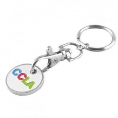 Personalized Metal Trolley Coin Key Chain