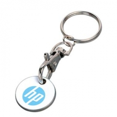 Cheap Promotional Metal Euro Coin Keychain
