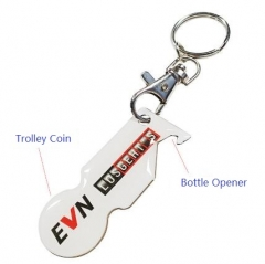 Customised Metal Euro Coin Keychain Holder
